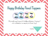 Birthday Pencil Toppers