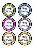 Birthday Pencil Toppers- Colorful