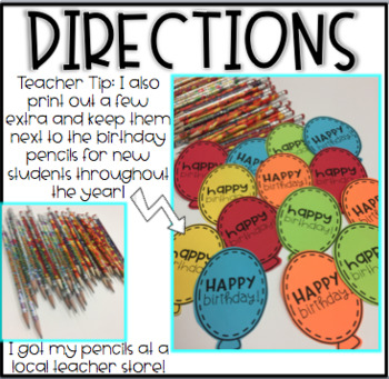 Birthday Pencil Toppers Freebie