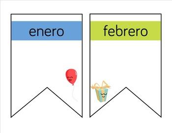 Birthday Pennant Banner in Spanish