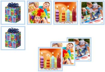 Birthday Photo Matching Cards