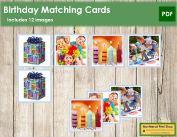 Birthday Matching Cards