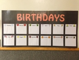 Birthday Picture Chart