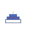 Birthday Pin-Blue and Red
