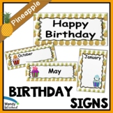 Birthday Pineapple Classroom Theme Bulletin Board Posters