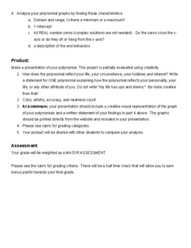 Birthday Polynomial Project with Rubric and Follow Up Activity
