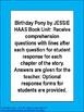 Birthday Pony Literacy Reading Comprehension Book Unit