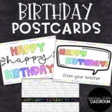 Birthday Postcard  |  Distance Learning
