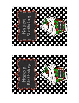 Birthday Postcards Cupcake Theme