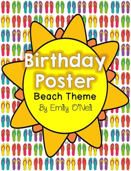 Birthday Poster (Beach Theme)