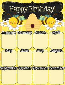 Birthday Poster (Bee Theme)