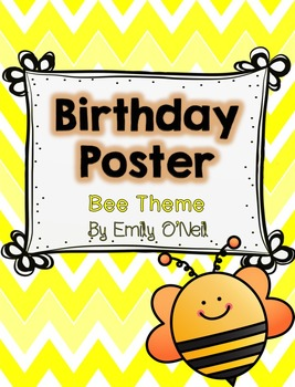 Birthday Poster (Bee Theme)