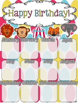 Birthday Poster (Bright Circus Theme)