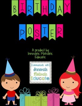 Birthday Poster Classroom Decor