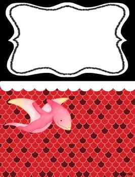 Binder Covers (Dinosaur Theme)