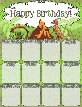 Birthday Poster (Dinosaur Theme)