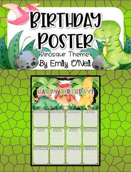 Birthday Poster (Dinosaur Theme)