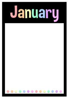 Birthday Poster Display - Black Background, Rainbow Font Posters