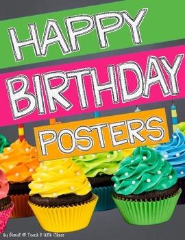 Birthday Poster Display {using real photographs}
