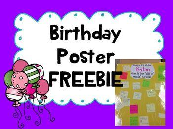 Birthday Poster {FREEBIE}