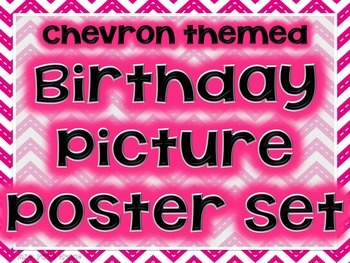 Chevron Birthday Picture Posters