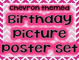Chevron Birthday Picture Posters