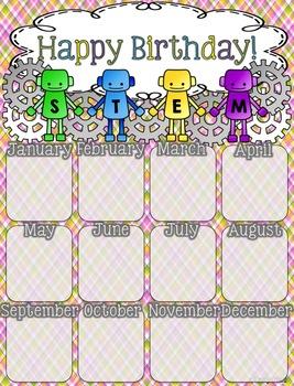 Birthday Poster (STEM-sational Theme)