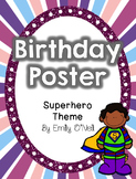 Birthday Poster (Superhero Theme)