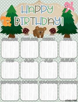 Birthday Poster (Woodland Theme)