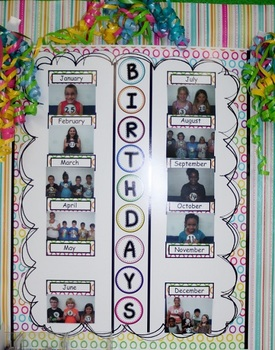 Birthday Poster with Numbers for Students to Hold