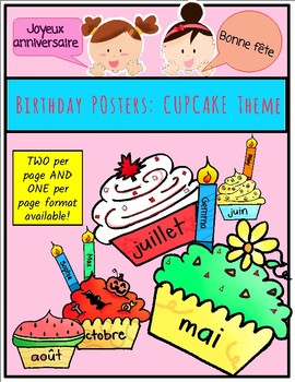 (FRENCH) Birthday Posters: CUPCAKE Theme