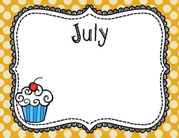 Birthday Posters Back to School Classroom Decor Polka Dot and Cupcake Theme