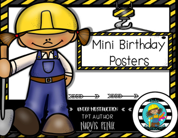 Birthday Posters-Construction Theme