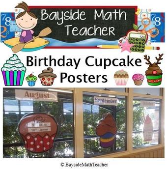 Birthday Posters - Cupcakes