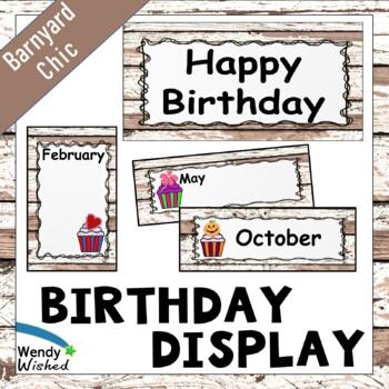 Birthday Posters Farmhouse Shiplap Decor