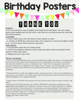 Happy Birthday- English Birthday Posters