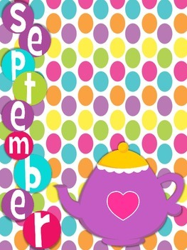 Birthday Posters Months of the Year Alice in Wonderland Theme
