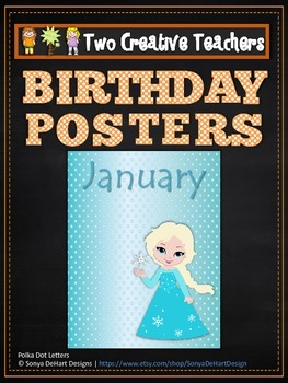 Birthday Posters Months of the Year Frozen Theme