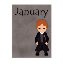 Birthday Posters Months of the Year Harry Potter Theme