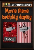 Birthday Posters Months of the Year Hollywood Theme