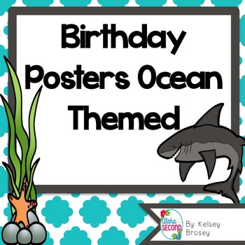 Birthday Posters Ocean Themed