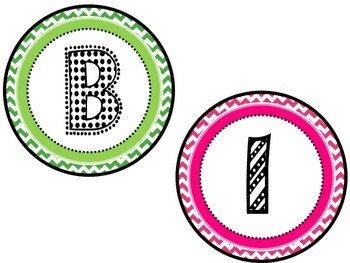 Birthday Posters Pink and Green Chevron