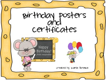 Birthday Posters and Certificates