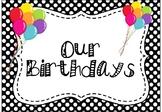 Birthday Posters for Classroom, Birthday Bulletin Board