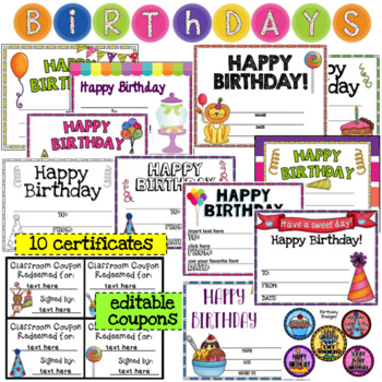 Birthday Board- Editable