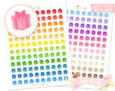 Birthday Present Printable Planner Stickers