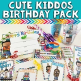 Birthday Printables Pack with Cup Labels, Certificates, Bookmarks, & More!