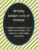 Birthday Random Acts of Kindness