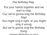 Birthday Rap