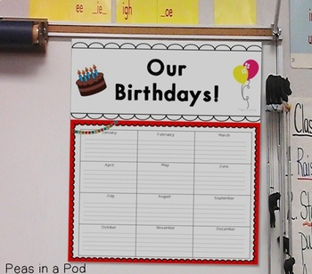Birthday Recognition Package: Charts and Pencil Toppers